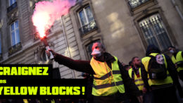 gilets jaunes black blocks yellow blocks