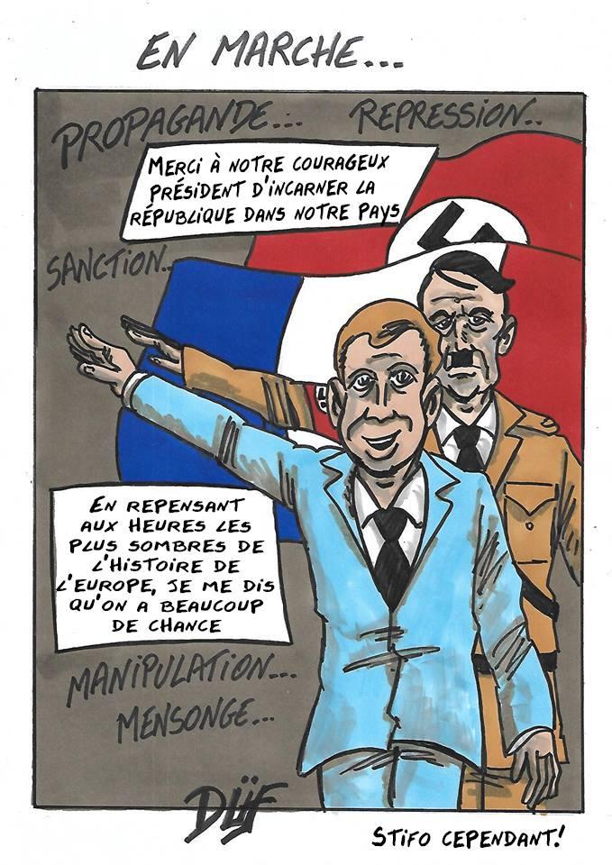 Duf dessinateur Macron Hitler