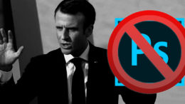 MACRON INTERDIT PHOTOSHOP