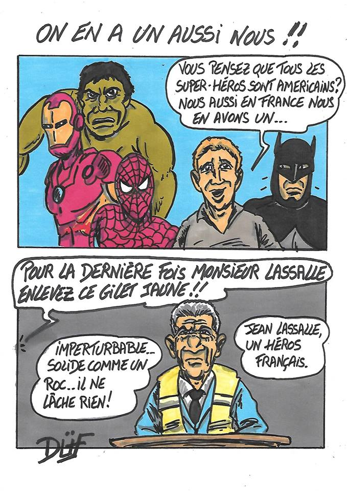 DUF dessinateur heros avengers