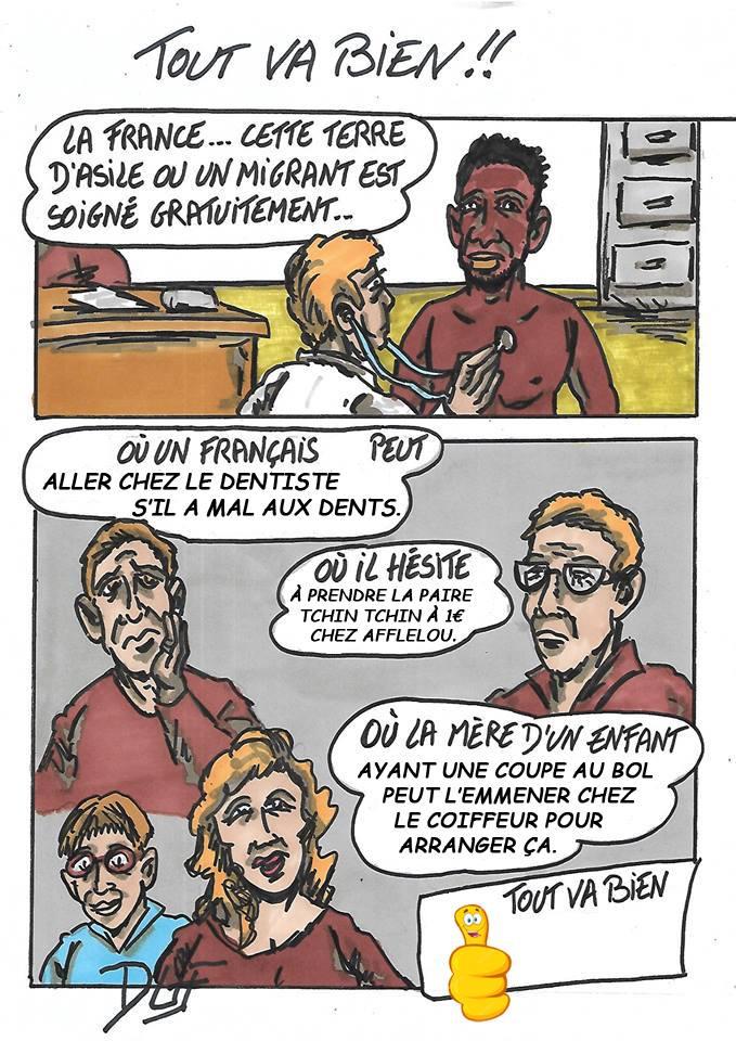 Duf dessinateur Migrants Santé