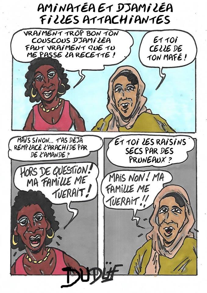 Duf dessinateur immigration noire arabe
