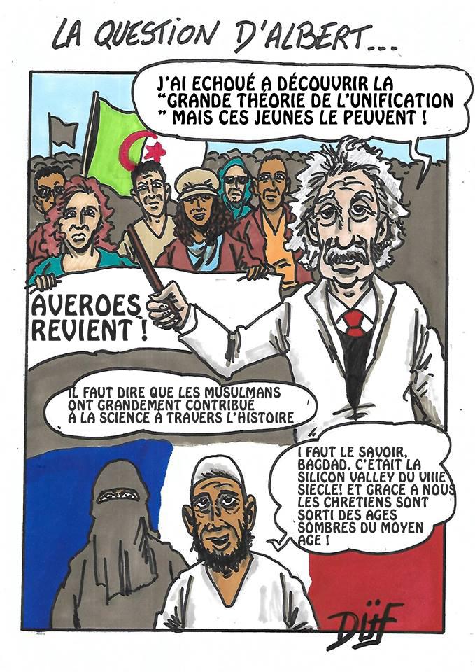 Duf dessinateur Islam Einstein science